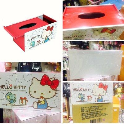 牛牛ㄉ媽*台灣製Hello Kitty凱蒂貓 滑蓋面紙盒 面紙套 木製面紙盒 面紙收納盒 置物盒 紙巾盒抽取式面紙盒衛生紙盒 民宿居家