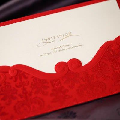 衣萊時尚-熱賣款  結婚創意請帖 婚禮喜帖請柬婚慶用品邀請函CW1050