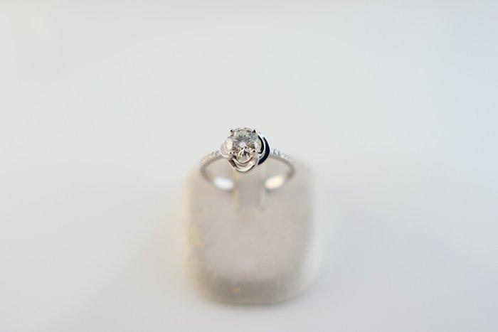 [吉宏精品交流中心]42分 天然鑽石 白K金 造型 戒指 鑽戒