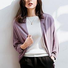YOHO 冰絲針織衫外套 (SDP2078)實拍春夏百搭寬鬆七分袖外套 罩衫 有6色