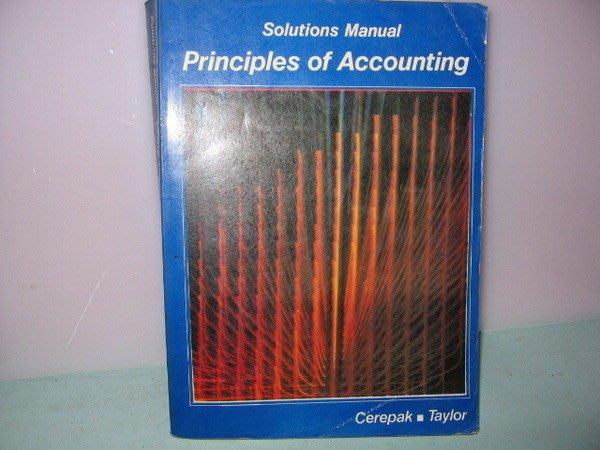 二姑書坊:  Solutions Manual Principles Of Accounting