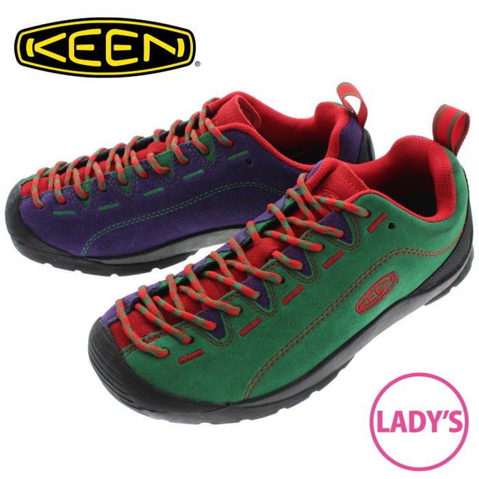 =CodE= KEEN JASPER ROCKS SP 麂皮多功能慢跑健行鞋(綠紅紫) 1019481 聖誕節 女
