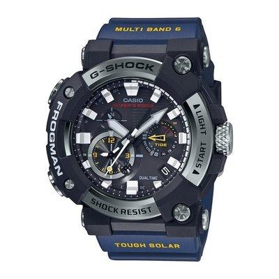 全新 CASIO卡西歐 G-SHOCK 電波 藍牙 太陽能電力 蛙人錶 潛水級防水 GWF-A1000-1A2 藍 平輸ㄧ年保固