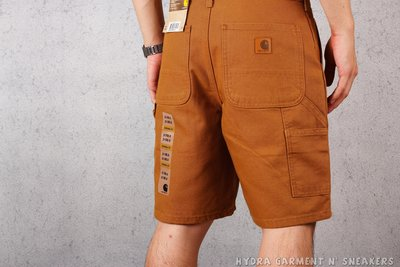 【HYDRA】CARHARTT B25 WASHED DUCK WORK SHORT 工作短褲 土黃【B25BRN】
