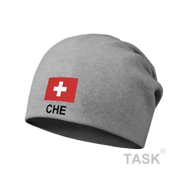 TASK 瑞士Switzerland 國家足球薄款包頭帽睡堆堆帽子男女圍脖頭巾春秋