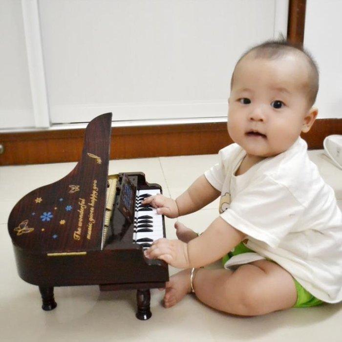 仿真鋼琴可彈奏早教迷你玩具小鋼琴初學電子琴嬰幼兒童樂器音樂