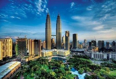 歐洲進口拼圖 TRE 風景 馬來西 亞吉隆坡 雙子星塔 2000片拼圖 27075