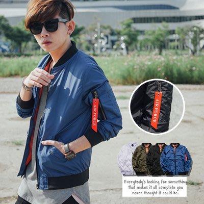 柒零年代【N9559J】手袖飄條素面風衣外套夾克飛行外套(SH9010)