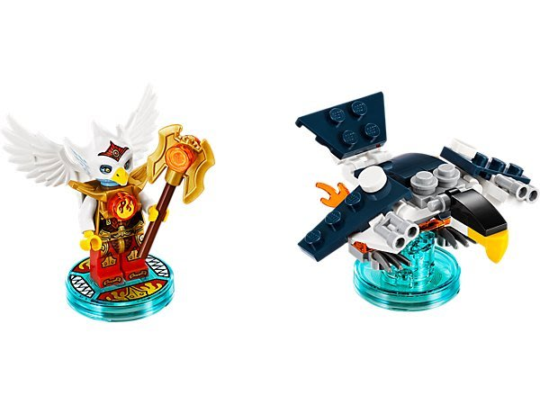 【LEGO 樂高 】100% 全新美國正品 益智玩具 積木/ CHIMA 神獸傳奇三合一次元系列 Eris 71232