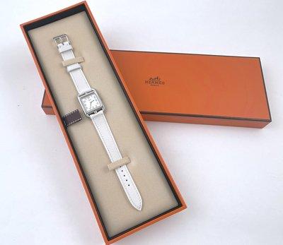 [我是寶琪] 侯佩岑二手商品 Hermès Cape Cod 白色典藏款腕表