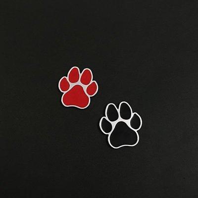 白雪兒#汽車金屬車貼個性創意小狗狗腳印改裝裝飾劃痕尾標遮擋側標油箱蓋