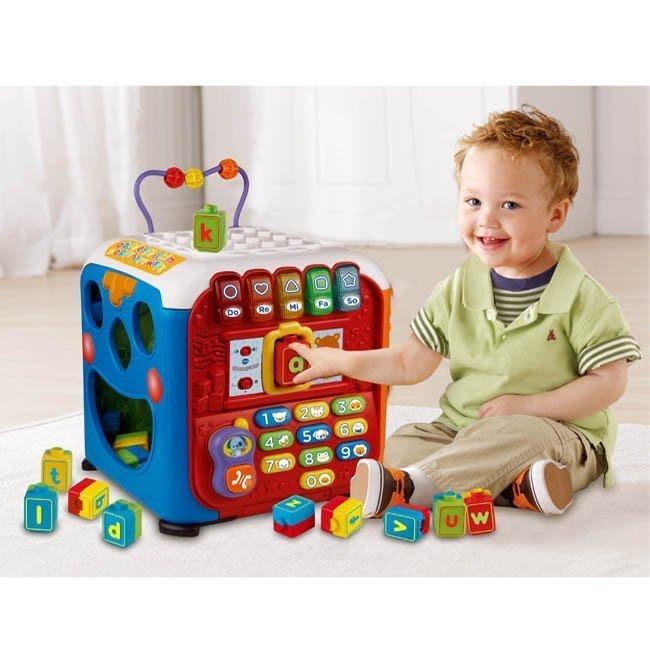 °✿豬腳印玩具出租✿°VTECH 聲光積木學習寶盒(五面學習盒提供不同樂趣)(2)~預約05/30