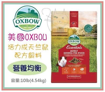 &米寶寵舖$ 現貨特價519元 美國 OXBOW 活力成天竺鼠配方飼料10LB(4.54kg) 成鼠 成天 10磅