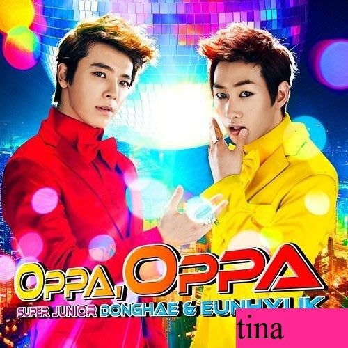 SUPER JUNIOR 東海銀赫日版第一張日文單曲Oppa, Oppa初回限定版CD+DVD贈MV花絮全新下標即售