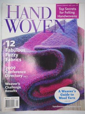 【月界二手書】HANDWOVEN-143期(絕版)_12 Fabulous Fuzzy Fabrics〖手工藝〗CEV