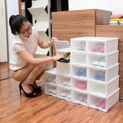男女通用鞋盒 (6個裝)加厚款 輕巧 堆疊 收納 鞋架可拆卸設計經久耐用好康