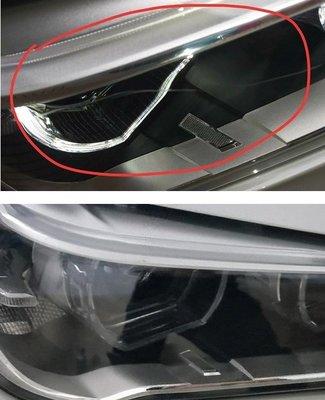 大燈快潔現場施工 BMW 寶馬 X3 原廠車大燈泛黃霧化拋光修復翻新處理
