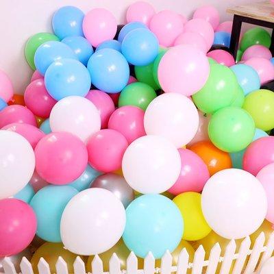 加厚10寸亞光仿美氣球 結婚婚禮布置生日派對裝飾拱門普通氣球