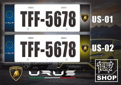 【STREET PARK】訂製 歐盟 車牌裝飾  Lamborghini Urus【原價780$ 特價 580$】