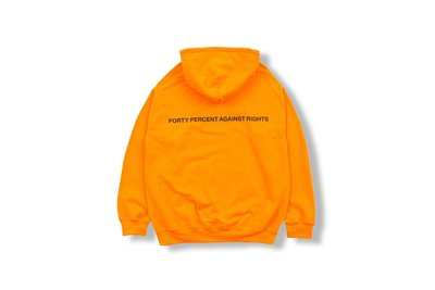 (A.B.E)FORTY PERCENT AGAINST RIGHTS SS19 TRUST NO ONE HOODED 02 兩色