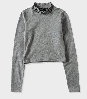 【 超搶手 】全新正品 最新款 女裝 STUSSY BODYCON MOCK NECK 緊身漏露腰上衣 灰色XS
