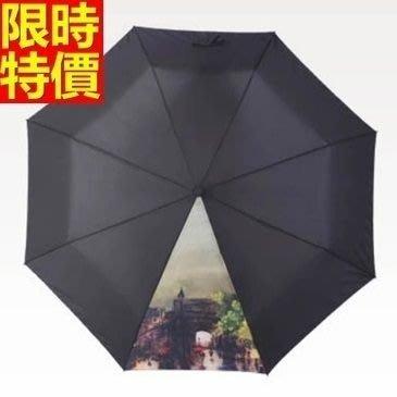 雨傘 手動摺疊傘 遮陽傘-創意油畫三折超輕晴雨傘男女 雨具6款66aj12[獨家進口][米蘭精品]