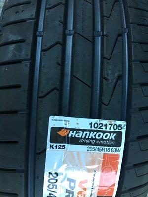 百世霸定位 hankook韓可固輪胎prime 3 k125 205/45/16 韓製2700/完工 ps4 ps71