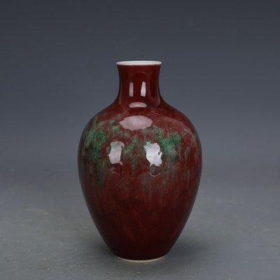 ㊣姥姥的寶藏㊣ 大清康熙豇豆紅釉美人醉直口瓶  官窯 古瓷手工瓷古玩古董收藏