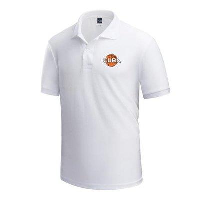 cuba高校短袖中國大學生籃球t恤裁判教練員工作隊服裝polo衫 ac milam