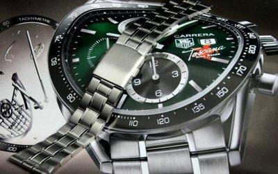 艾曼達精品~超值 20mm sea master TAG平頭不鏽鋼製,錶帶双按式單折錶扣,有效替代同規格各式錶帶