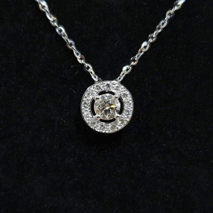 送禮禮物禮品 全新品 天然鑽石項鍊 主石30分8心8箭 18K金鑽石墜台 墜0.8x0.8cm 大眾當舖 編號5960