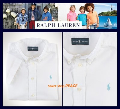 Ralph Lauren 美國【現貨】6號 Boy's 襯衫 Cotton Short-Sleeved
