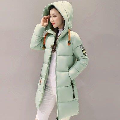 羽絨外套 連帽夾克-中長款時尚修身加厚女外套9色73pa5[獨家進口][米蘭精品]