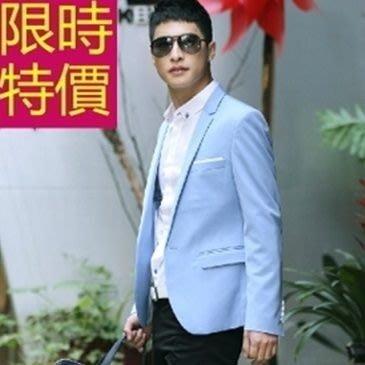 西裝外套-走秀款婚禮自信時髦男西服(單外套)59t1[韓國進口][米蘭精品]