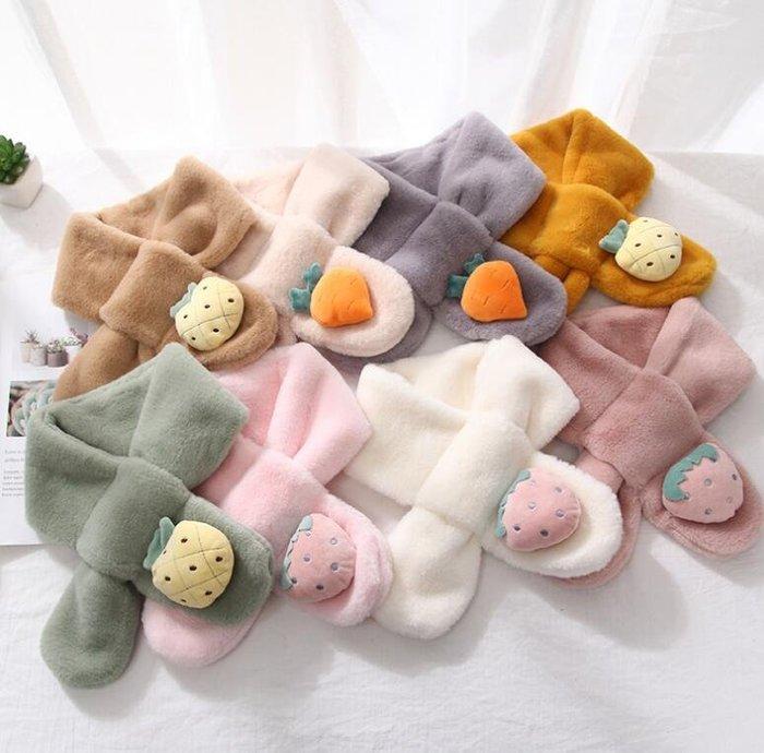 兒童圍巾 棉質秋冬季男女童寶寶可愛保暖嬰兒圍脖 莎芭