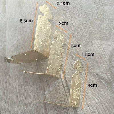 戀物星球 仿古銅包角65*24MM黃銅中式禮盒木盒裝飾邊角包邊銅包角家具角碼/5件起購
