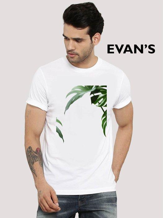 EVAN'S 設計款 - 龜背竹 T恤 ( 白 / 灰 / 藍 )