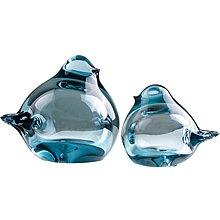 〖洋碼頭〗玻璃小鳥家居藍色水晶擺件琉璃鳥客廳生日桌面幾何禮物酒櫃裝飾品 ybj333