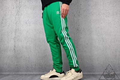 【HYDRA】adidas Originals SST Track Pants 縮口褲 三線 綠 【CW1278】