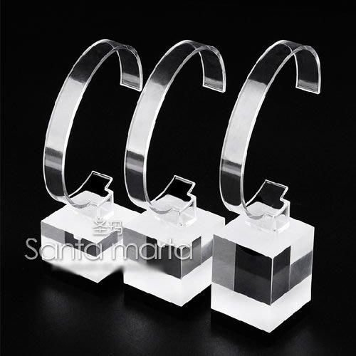 5Cgo【批發】會員有優惠 8349101676 有機玻璃手錶展示架手鏈架透明手錶架子首飾架手錶座三件套