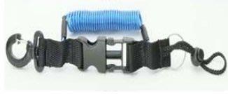 GOPRO 潛水配件 小蟻 潛水相機 防脫 快卸不鏽鋼索捲繩單頭扣 QQ繩 彈簧 伸縮扣 1.3M