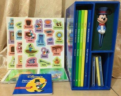 寰宇迪士尼美語世界 故事系列 Story Book 5本課本 5片CD 米奇對錯筆 答案本 貼紙 全套齊