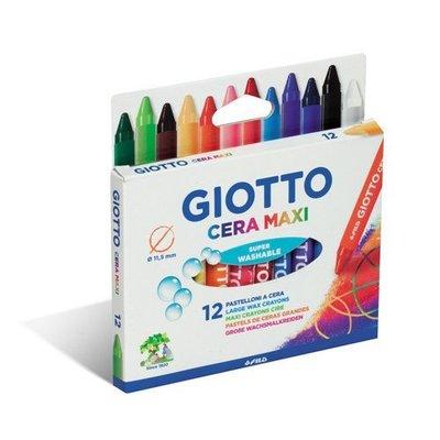 [小文的家] 【義大利 GIOTTO】好清洗兒童專用蠟筆(12色)