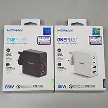 原裝 Momax One Plug 66W 4-Port Type-C PD Charger qc 3.0 ipad Surface 平板電腦充電器 火牛