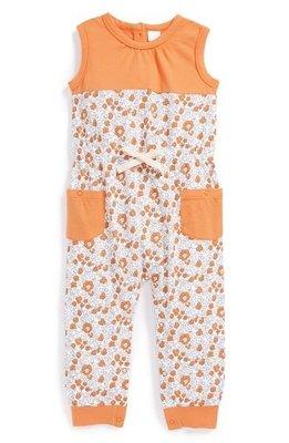 *小豆仔的屋Dou Dou House*美國進口Nordstrom Baby童裝-橘色小花連身裝-size:12M