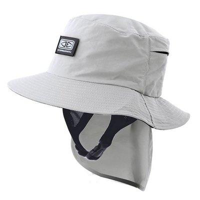 Mens Indo Stiff Peak Surf Hat - Grey SMHA02