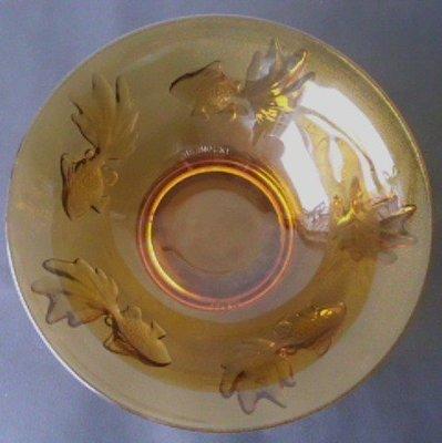 [小章寶店]  賠本出清~~1元起標/運費不合併/  質感優完整漂亮(INDONESIA)水晶琉璃餐碗乙件.
