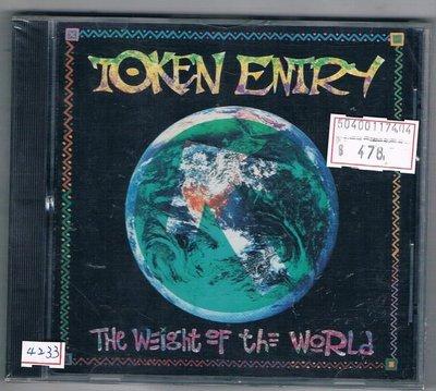 [鑫隆音樂]西洋CD-TOKEN ENTRY The Weight Of The World/全新/免競標
