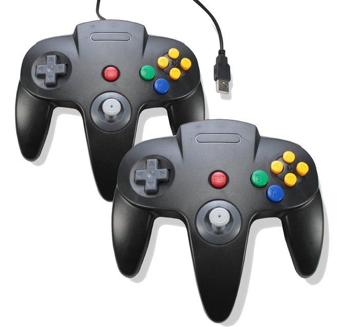 N64 USB遊戲手柄 N64遊戲手把 pc手把 電腦遊戲手把 樹莓派小雞 日光 魔視 魔幻 模擬器遊戲手把