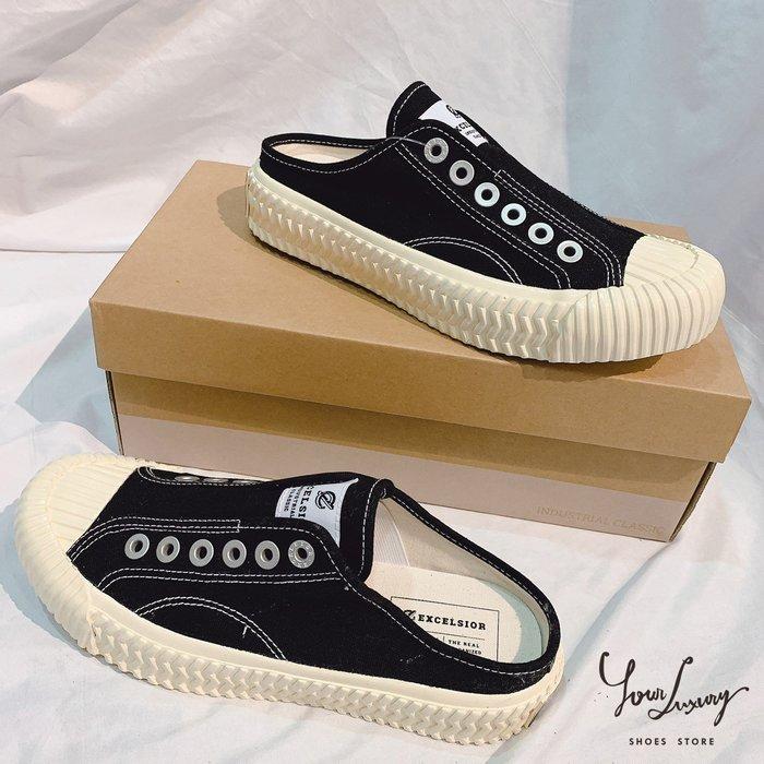 【Luxury】EXCELSIOR Bolt Mule 餅乾鞋 半截式懶人鞋 鬆緊帶 黑 藍 白 3色 韓國代購 正品